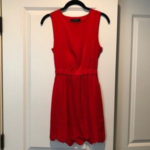 Urban outfitters red/burnt orange scalloped dress